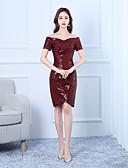 preiswerte Abendkleider-Eng anliegend Schulterfrei Kurz / Mini Pailletten Cocktailparty Kleid mit durch LAN TING Express