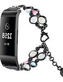 halpa Smartwatch-nauhat-Watch Band varten Fitbit Charge 3 Fitbit Korudesign Ruostumaton teräs Rannehihna