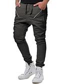 זול טרנינגים וקפוצ'ונים לגברים-בגדי ריקוד גברים בסיסי מכנסי טרנינג מכנסיים - פסים שחור אפור כהה M XXL XXXL