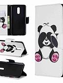 Недорогие Чехлы для телефонов-Кейс для Назначение LG LG Stylo 4 / LG Stylo 5 / LG K10 2018 Кошелек / Защита от удара / со стендом Чехол Панда Твердый Кожа PU