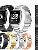 זול להקות Smartwatch-צפו בנד ל Fitbit Versa / Fitbit Versa לייט פיטביט רצועת ספורט מתכת / מתכת אל חלד רצועת יד לספורט