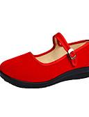 זול שעונים-בגדי ריקוד נשים נעליים ללא שרוכים עקב טריז בוהן עגולה מיקרופייבר יום יומי קיץ אדום / כחול / ורוד