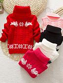 povoljno Džemperi i kardigani za djevojčice-Djeca Djevojčice Osnovni Jednobojni Dugih rukava Džemper i kardigan Crn