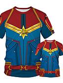 זול סטים של בגדים למשפחה-טישירט דפוס קולור בלוק פאנק & גותיות אבא ואני