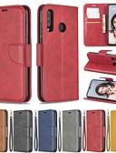זול מגנים לטלפון-מגן עבור Huawei Huawei P20 / Huawei P20 Pro / Huawei P20 lite ארנק / עמיד בזעזועים / עם מעמד כיסוי מלא אחיד קשיח עור PU / P10 Lite
