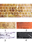halpa MacBook tarvikkeet-meille englanninkielinen silikoni-näppäimistö kattaa puumateriaalin marmorisen suojan, joka on yhteensopiva MacBook Airin kanssa 11 13 15 / verkkokalvo 12 / pro 13 15 / verkkokalvo 13 15