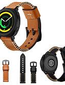 זול להקות Smartwatch-צפו בנד ל Gear Sport Samsung Galaxy רצועת ספורט / אבזם קלאסי עור אמיתי רצועת יד לספורט