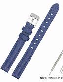 hesapli Deri Saat Bandı-Gerçek Deri / Deri / Buzağı Tüyü Watch Band kayış için Mavi Diğer / 17cm / 6.69 inç / 19cm / 7.48 İnç 1cm / 0.39 İnç
