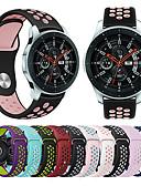 זול להקות Smartwatch-צפו בנד ל Gear S3 Frontier / Gear S3 Classic / Samsung Galaxy Watch 46 Samsung Galaxy רצועת ספורט סיליקוןריצה רצועת יד לספורט