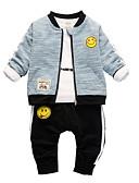 povoljno Kompletići za Za dječake bebe-Dijete Dječaci Ležerne prilike / Osnovni Geometrijski oblici Vezeno / Print Dugih rukava Regularna Normalne dužine Komplet odjeće Plava