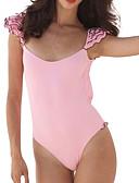 hesapli Bikiniler ve Mayolar-Kadın's Siyah Doğal Pembe Havuz Tek Parçalılar Mayolar - Solid S M L Siyah