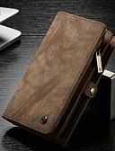 זול מגנים לאייפון-מגן עבור Apple iPhone XS / iPhone XR / iPhone XS Max ארנק / מחזיק כרטיסים כיסוי אחורי אחיד קשיח עור אמיתי