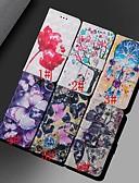 זול מגנים לטלפון-מגן עבור Huawei כבוד 10 לייט / Huawei Honor 8X / כבוד Huawei 8A ארנק / מחזיק כרטיסים / עמיד בזעזועים כיסוי מלא פרפר / פרח קשיח עור PU
