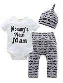 זול לבנים סטים של ביגוד לתינוקות-סט של בגדים שרוולים קצרים דפוס בנים תִינוֹק