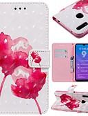 זול מגנים לטלפון-מגן עבור Huawei Huawei Nova 3i / Mate 10 / Mate 10 pro ארנק / מחזיק כרטיסים / עמיד בזעזועים כיסוי מלא פרח קשיח עור PU