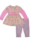 זול לבנים סטים של ביגוד לתינוקות-סט של בגדים שרוול ארוך פרחוני / גיאומטרי / דפוס בנות תִינוֹק