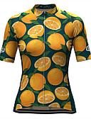 povoljno Bluza-21Grams Žene Kratkih rukava Biciklistička majica žuta Voće Bicikl Biciklistička majica Majice Prozračnost Ovlaživanje Quick dry Sportski Terilen Brdski biciklizam Odjeća / Mikroelastično