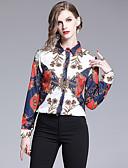 hesapli Gömlek-Kadın's Gömlek Yaka Gömlek Grafik Vintage / Zarif Beyaz