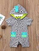 זול לבנים סטים של ביגוד לתינוקות-מקשה אחת One-pieces שרוול קצר דפוס בנים תִינוֹק