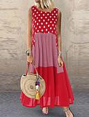 povoljno Maxi haljine-Žene Osnovni Korice Haljina Geometrijski oblici Maxi