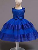 זול שמלות לבנות-שמלה מעל הברך ללא שרוולים פפיון / רשת אחיד פעיל / מתוק בנות ילדים / פעוטות