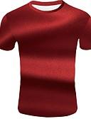 """זול חולצות פולו לגברים-3D צווארון עגול בסיסי האיחוד האירופי / ארה""""ב גודל טישרט - בגדי ריקוד גברים אודם / שרוולים קצרים"""