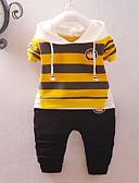 זול סטים של ביגוד לתינוקות-סט של בגדים שרוול ארוך פסים בנים תִינוֹק