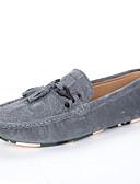 זול תחתוני גברים אקזוטיים-בגדי ריקוד גברים מוקסין סינטטיים אביב / סתיו נעליים ללא שרוכים נושם אפור / כחול / חאקי