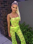 abordables Pantalons Femme-Femme Actif / Chic de Rue Mince / Ample Ample Pantalon - Imprimé Citron, Fleur Vert Noir S M L