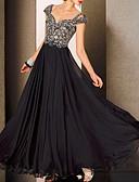 hesapli Maksi Elbiseler-A-Şekilli Kalp Yaka Yere Kadar Dantelalar / Tül Dantel Ekleme ile Resmi Akşam Elbise tarafından LAN TING Express / Zıt Renkler