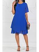 hesapli Kadın Elbiseleri-Kadın midi çizgi elbise şifon mavi s m l xl