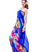 זול ביקיני ובגדי ים-צעיף מלבני - דפוס בסיסי בגדי ריקוד נשים