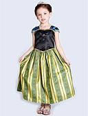 povoljno Haljine za djevojčice-Djeca Djevojčice Color block Kolaž Maxi Haljina Navy Plava