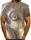 """זול טישרטים לגופיות לגברים-3D צווארון עגול בסיסי האיחוד האירופי / ארה""""ב גודל טישרט - בגדי ריקוד גברים קשת / שרוולים קצרים"""