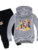 hesapli Erkek Çocuk Kıyafet Setleri-Çocuklar Toddler Genç Kız Temel Desen Desen Uzun Kollu Normal Normal Pamuklu Kıyafet Seti Doğal Pembe