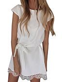 hesapli Mini Elbiseler-Kadın's Temel A Şekilli Elbise - Solid Diz üstü