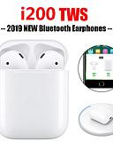 זול כבל & מטענים iPhone-מקורי i200 tws אוזניות אלחוטיות אמיתיות צ 'י טעינה bluetooth 5.0 6d אוזניות בס pop up חלון עם ios פונקצית בקרת מגע אוטומטי זיווג