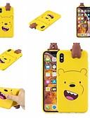 זול מגנים לטלפון-מגן עבור Huawei Huawei Y7 2019 עמיד בזעזועים / אולטרה דק / מתוח כיסוי אחורי חיה / אנימציה / דמות מצוירת בתלת מימד רך TPU