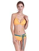 זול בגדי ים במידות גדולות-שחור M L XL גב חשוף קפלים אחיד, בגדי ים טנקיני נועזת שחור ורוד מסמיק צהוב בסיסי בגדי ריקוד נשים
