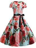 זול מלכת הוינטאג'-עד הברך דפוס, פרחוני - שמלה נדן וינטאג' בגדי ריקוד נשים
