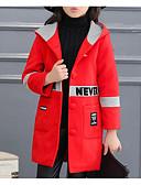 זול סטים של ביגוד לבנות-ז'קט ומעיל קולור בלוק בנות ילדים