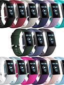 hesapli Smartwatch Bantları-Watch Band için Fitbit Charge 3 Fitbit Modern Toka Silikon Bilek Askısı