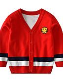 povoljno Džemperi i kardigani za dječake-Djeca Dijete koje je tek prohodalo Dječaci Aktivan Osnovni Prugasti uzorak Geometrijski oblici Print Kolaž Print Dugih rukava Džemper i kardigan Red