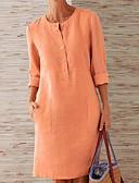 hesapli Mini Elbiseler-Kadın's A Şekilli Elbise - Solid Diz-boyu