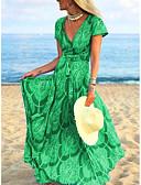 זול שמלות מקסי-מקסי גיאומטרי - שמלה נדן בגדי ריקוד נשים