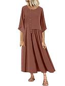 זול שמלות במידות גדולות-מידי אחיד - שמלה גזרת A ישרה בגדי ריקוד נשים