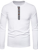 hesapli Erkek Kapşonluları ve Svetşörtleri-Erkek Tişört Solid Sokak Şıklığı Siyah