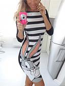 hesapli Mini Elbiseler-Kadın's Temel Kılıf Elbise - Hayvan Diz üstü