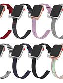 זול להקות Smartwatch-להקת שעונים לסדרת שעון התפוחים 4/3/2/1 רצועת שורש כף היד אבזם ניילון קלאסי