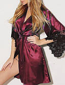 hesapli Pijamalar-Kadın's Etekler - Solid Dantel Mor Fuşya Şarap M L XL / Sexy